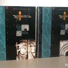 Enciclopedias de segunda mano: ENCICLOPEDIA DEL ROMANICO EN ASTURIAS. TOMOS I (SIN DESPRECINTAR) Y II. SANTA MARIA LA REAL.. Lote 172012645