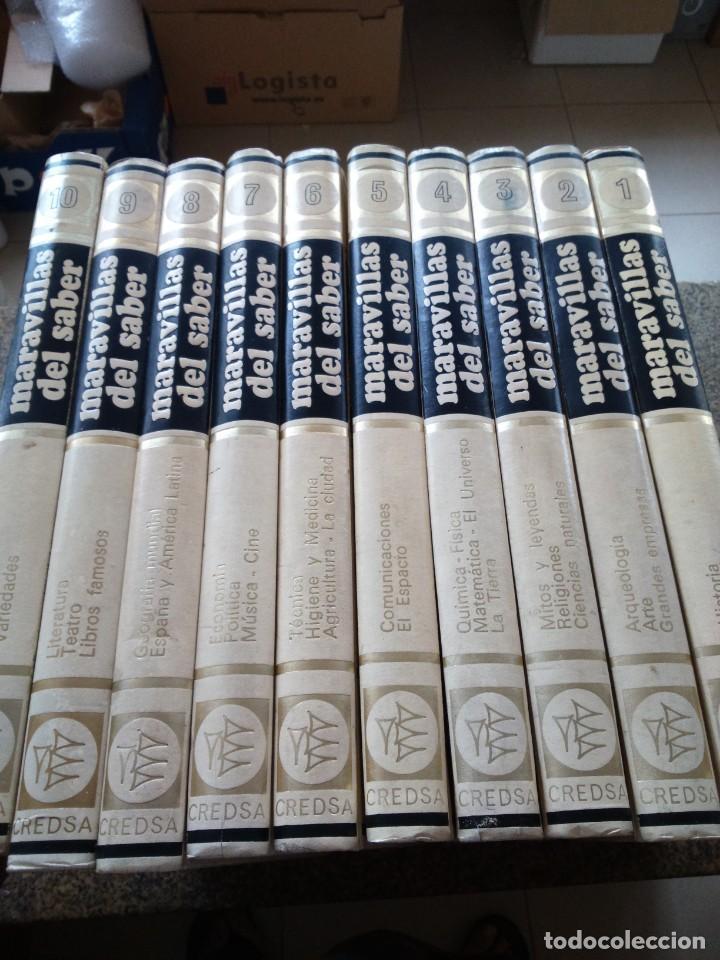 MARAVILLAS DEL SABER - ENCICLOPEDIA DIDACTICA -- CREDSA 1975 -- 10 TOMOS -- (Libros de Segunda Mano - Enciclopedias)