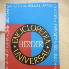 Enciclopedias de segunda mano: ENCICLOPEDIA UNIVERSAL HERDER. EDITORIAL HERDER. 2340 PÁGINAS. 1955. NUEVO. Lote 174328033