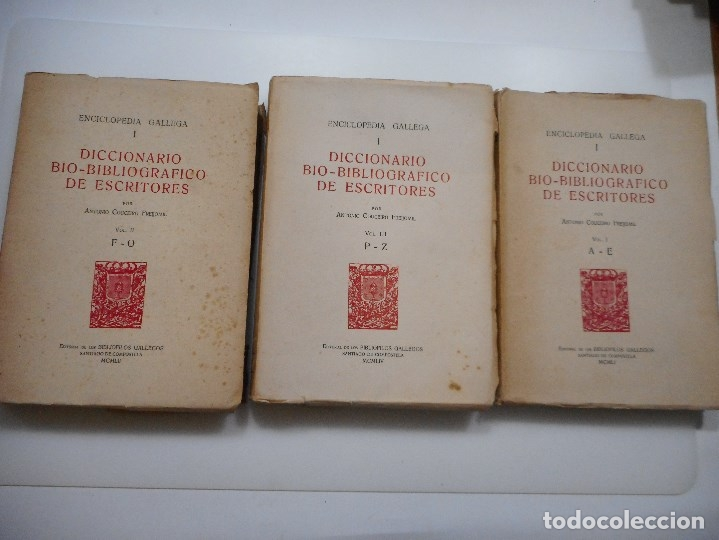 ENCICLOPEDIA GALLEGA. DICCIONARIO BIO-BIBLIOGRÁFICO DE ESCRITORES (3 TOMOS) Y95843 (Libros de Segunda Mano - Enciclopedias)