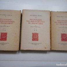 Enciclopedias de segunda mano: ENCICLOPEDIA GALLEGA. DICCIONARIO BIO-BIBLIOGRÁFICO DE ESCRITORES (3 TOMOS) Y95843. Lote 175591362