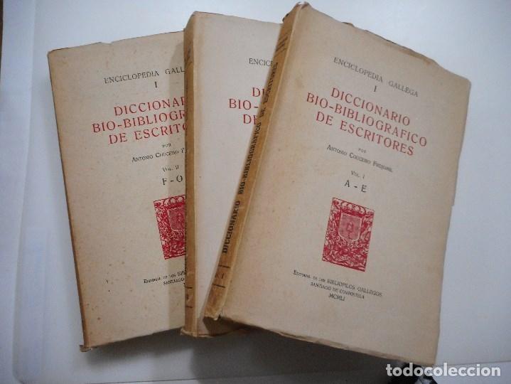 Enciclopedias de segunda mano: Enciclopedia gallega. Diccionario bio-bibliográfico de escritores (3 Tomos) Y95843 - Foto 3 - 175591362