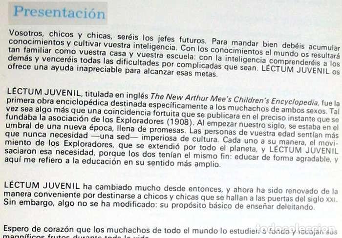 Enciclopedias de segunda mano: LECTUM JUVENIL - COMPLETA - ED. CREDSA 1980 - 4007 PÁGINAS - VER DESCRIPCIÓN Y FOTOS - Foto 3 - 175901774