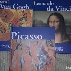 Enciclopedias de segunda mano: GRANDES MAESTROS DE LA PINTURA, PICASSO, VAN GOGH, DA VINCI. Lote 175944635