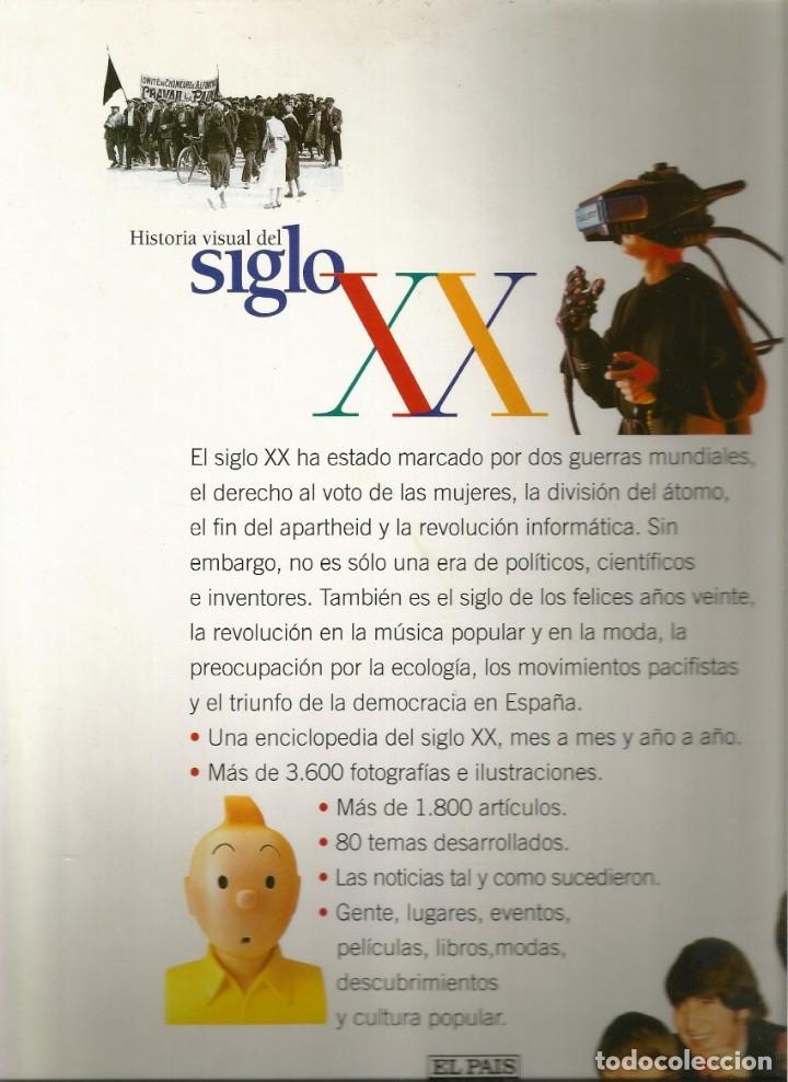 HISTORIA VISUAL DEL SIGLO XX EDITADA POR AGUILAR CON EL PAIS-ENCUADERNADA (Libros de Segunda Mano - Enciclopedias)