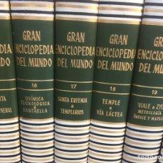 Enciclopedias de segunda mano: GRAN ENCICLOPEDIA DEL MUNDO EN 33 TOMOS ,MÁS APÉNDICE SIGLO XX MÁS ATLAS. Lote 181096635