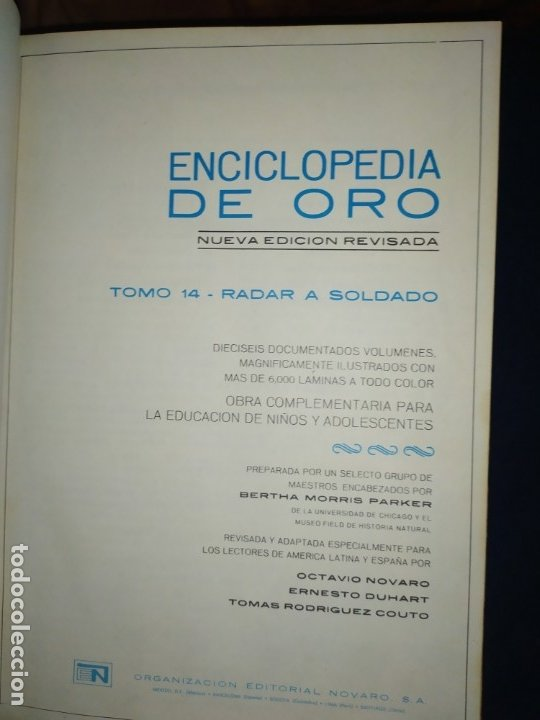Enciclopedias de segunda mano: ENCICLOPEDIA DE ORO BERTHA MORRIS PARKER 1972/1973 NOVARO DUHART COUTO - Foto 4 - 182549035