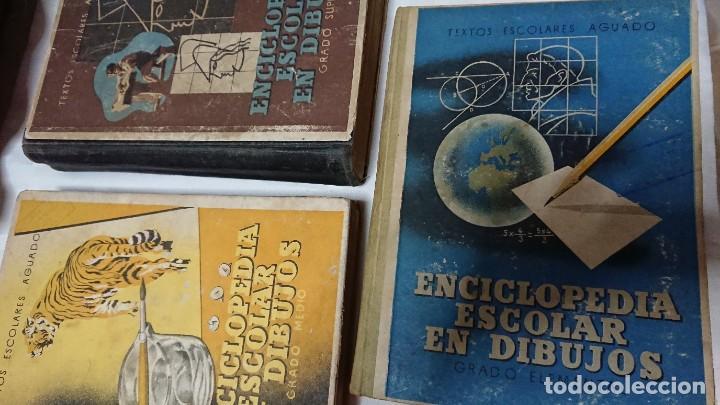 ENCICLOPEDIA ESCOLAR EN DIBUJOS GRADO ELEMENTAL, MEDIO Y SUPERIOR (Libros de Segunda Mano - Enciclopedias)