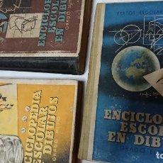 Enciclopedias de segunda mano: ENCICLOPEDIA ESCOLAR EN DIBUJOS GRADO ELEMENTAL, MEDIO Y SUPERIOR . Lote 183517355