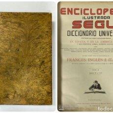 Enciclopedias de segunda mano: ENCICLOPEDIA ILUSTRADA SEGUI. DICCIONARIO UNIVERSAL. FRANCES-INGLES-ITALIANO. BARCELONA. TOMO X.. Lote 183763690