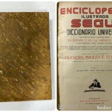 Enciclopedias de segunda mano: ENCICLOPEDIA ILUSTRADA SEGUI. DICCIONARIO UNIVERSAL. FRANCES-INGLES-ITALIANO. BARCELONA. TOMO I.. Lote 183763861