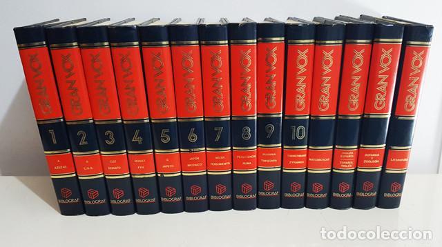 DICCIONARIO ENCICLOPEDICO GRAN VOX COMPLETA 10 TOMOS + 4 APENDICES, BIBLIOGRAF 1990, VER DESCRIPCION (Libros de Segunda Mano - Enciclopedias)