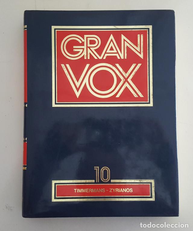 Enciclopedias de segunda mano: DICCIONARIO ENCICLOPEDICO GRAN VOX COMPLETA 10 TOMOS + 4 APENDICES, BIBLIOGRAF 1990, VER DESCRIPCION - Foto 3 - 186171923