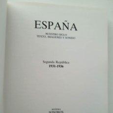 Enciclopedias de segunda mano: TOMO SONOBOX ESPAÑA SEGUNDA REPÚBLICA 1931-1936. TEXTO, IMÁGENES Y SONIDO. SÓLO ESTE TOMO. Lote 147950830