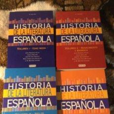Enciclopedias de segunda mano: HISTORIA DE LA LITERATURA ESPAÑOLA EVEREST (COMPLETA). Lote 189278840