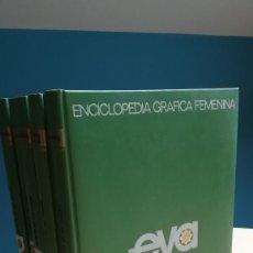 Enciclopedias de segunda mano: ENCICLOPEDIA GRAFICA FEMENINA. EVA. EL ARTE DE SER MUJER.EDITORIAL VERGARA.1968. EN 5 TOMOS.. Lote 191262853