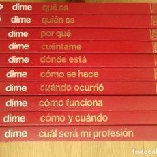 Enciclopedias de segunda mano: ENCICLOPEDIA BASICA DIME - 10 TOMOS COMPLETA MUY BUEN ESTADO - EDITORIAL ARGOS. Lote 191270561