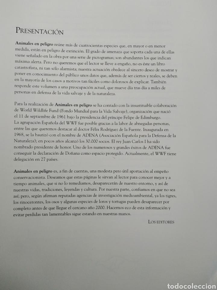 Enciclopedias de segunda mano: ENCICLOPEDIA SALVAT DE LA FAUNA MUNDIAL - ANIMALES EN PELIGRO - Foto 5 - 192042758
