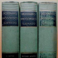 Enciclopedias de segunda mano: DICCIONARIO ENCICLOPÉDICO ILUSTRADO RAMÓN SOPENA (3 TOMOS) - 1958. Lote 194223058