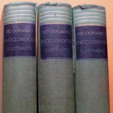 Enciclopedias de segunda mano: DICCIONARIO ENCICLOPÉDICO ILUSTRADO RAMÓN SOPENA (3 TOMOS) - 1955. Lote 194224201