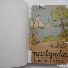 Enciclopedias de segunda mano: ENCICLOPEDIA ÁLVAREZ TERCER GRADO Y98779T. Lote 194390215
