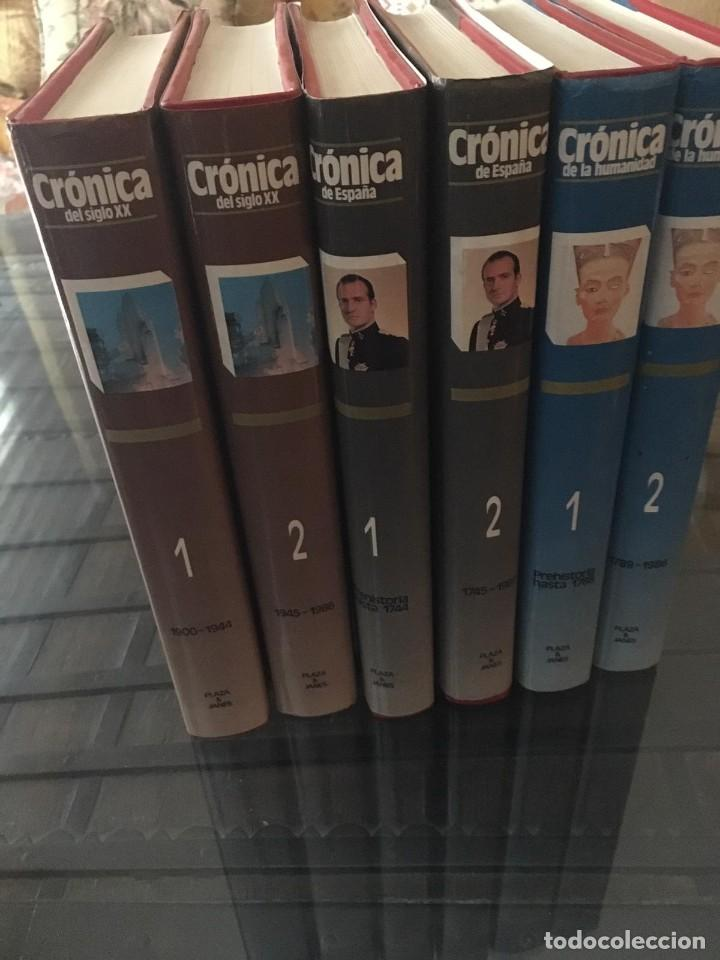 CRÓNICA PLAZA&JANES 6 VOLÚMENES (Libros de Segunda Mano - Enciclopedias)
