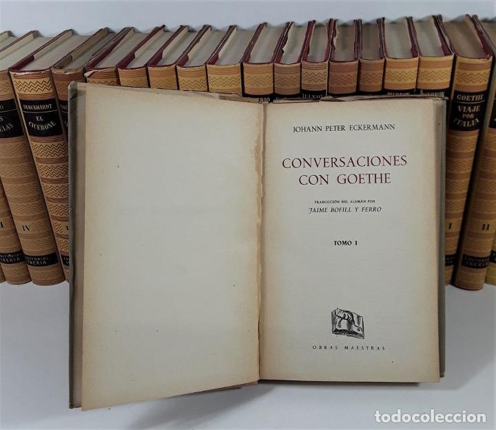 Enciclopedias de segunda mano: OBRAS MAESTRAS. 28 EJEMPLARES. VARIOS AUTORES. EDIT. IBERIA. BARCELONA. 1946/1972. - Foto 7 - 195257331