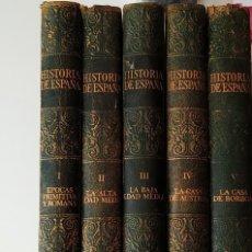 Enciclopedias de segunda mano: HISTORIA DE ESPAÑA, INSTITUTO GALLACH, AÑO 1967 TERCERA EDICION, 5 TOMOS. Lote 195616282