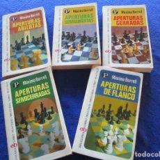 Livros em segunda mão: AJEDREZ APERTURAS 5 TOMOS MÁXIMO BORRELL EDITORIAL BRUGUERA 1975 PRIMERA EDICION. Lote 197397451