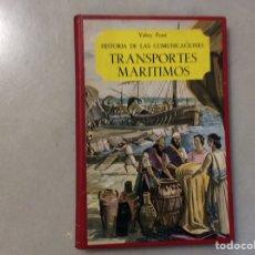 Enciclopedias de segunda mano: TRANSPORTES MARITIMOS. Lote 197691628