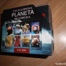 Enciclopedias de segunda mano: ENCICLOPEDIA PLANETA MULTIMEDIA - 8 PC CD-ROM / COLECCION COMPLETA. Lote 199650546