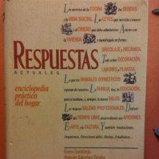 Enciclopedias de segunda mano: RESPUESTAS ACTUALES. ENCICLOPEDIA PRACTICA DEL HOGAR. EDICIONES DEL PRADO. Lote 199744795
