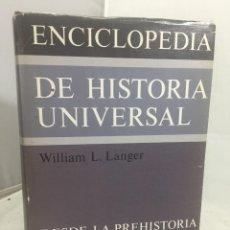 Enciclopedias de segunda mano: ENCICLOPEDIA DE HISTORIA UNIVERSAL, 1. WILLIAM LANGER, ED. ALIANZA. MADRID 1980. Lote 201487672