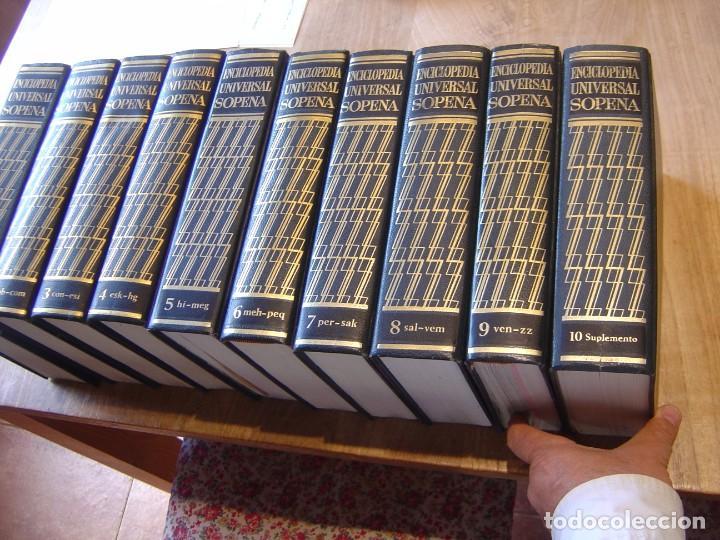 ENCICLOPEDIA UNIVERSAL SOPENA. COMPLETA 10 TOMOS. 1963. EXCELENTE CONSERVACIÓN. (Libros de Segunda Mano - Enciclopedias)