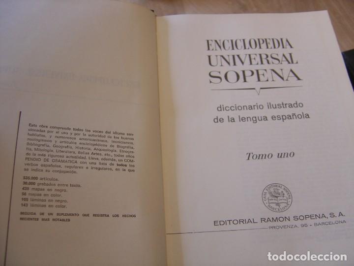 Enciclopedias de segunda mano: ENCICLOPEDIA UNIVERSAL SOPENA. COMPLETA 10 TOMOS. 1963. EXCELENTE CONSERVACIÓN. - Foto 8 - 202332866