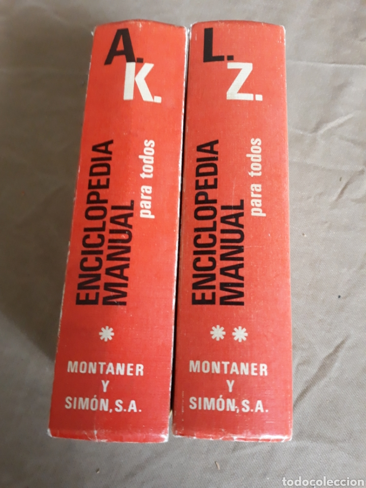 ENCICLOPEDIA MANUAL PARA TODOS. MONTANER Y SIMON (Libros de Segunda Mano - Enciclopedias)