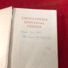 Enciclopedias de segunda mano: ENCICLOPEDIA UNIVERSAL HERDER. Lote 206959631