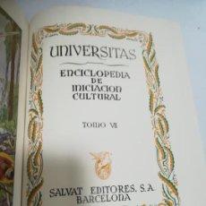 Enciclopedias de segunda mano: UNIVERSITAS. ENCICLOPEDIA DE INICIACION CULTURAL. TOMO VII. SALVAT EDITORES. 1º EDICION. 1943. Lote 206964118