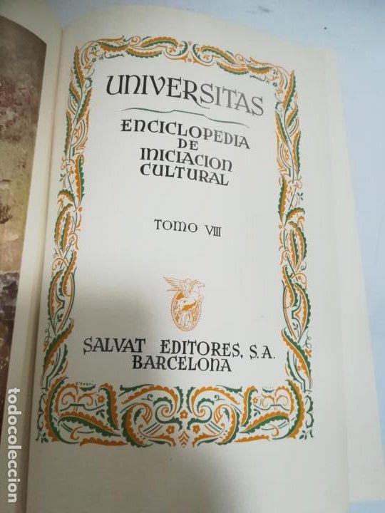 UNIVERSITAS. ENCICLOPEDIA DE INICIACION CULTURAL. TOMO VIII. SALVAT EDITORES. 1º EDICION. 1943 (Libros de Segunda Mano - Enciclopedias)