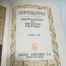 Enciclopedias de segunda mano: UNIVERSITAS. ENCICLOPEDIA DE INICIACION CULTURAL. TOMO XVI. SALVAT EDITORES. 1º EDICION. 1943. Lote 206966158
