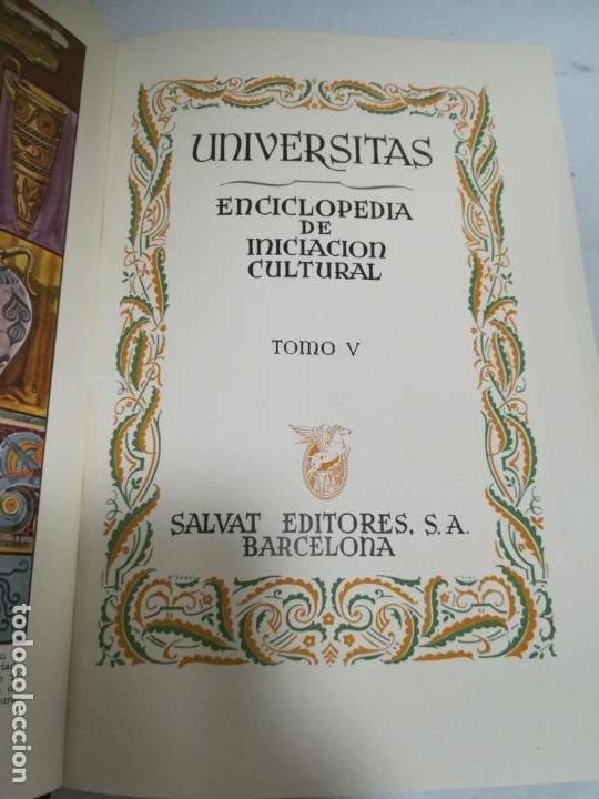 UNIVERSITAS. ENCICLOPEDIA DE INICIACION CULTURAL. TOMO V. SALVAT EDITORES. 1º EDICION. 1943 (Libros de Segunda Mano - Enciclopedias)