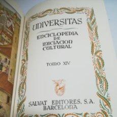 Enciclopedias de segunda mano: UNIVERSITAS. ENCICLOPEDIA DE INICIACION CULTURAL. TOMO XIV. SALVAT EDITORES. 1º EDICION. 1944. Lote 206966293