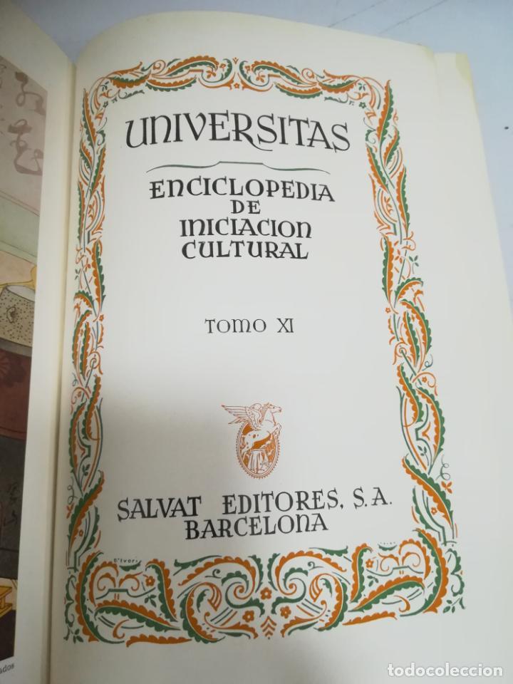 UNIVERSITAS. ENCICLOPEDIA DE INICIACION CULTURAL. TOMO XI. SALVAT EDITORES. 1º EDICION. 1944 (Libros de Segunda Mano - Enciclopedias)
