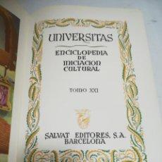 Enciclopedias de segunda mano: UNIVERSITAS. ENCICLOPEDIA DE INICIACION CULTURAL. TOMO XXI. SALVAT EDITORES. 1º EDICION. 1951. Lote 206966681