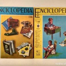 Enciclopedias de segunda mano: ENCICLOPEDIA ESTUDIANTIL. LOTE CON LOS NÚMEROS 201 Y 202.. Lote 207255612