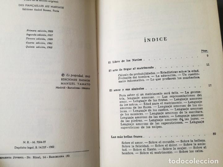Enciclopedias de segunda mano: EL LIBRO DE LOS NOVIOS. - Foto 3 - 207602008