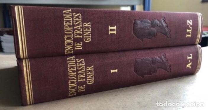 Enciclopedias de segunda mano: ENCICLOPEDIA DE FRASES GINER EN DOS TOMOS. EDICIONES GINER 1967. - Foto 2 - 208796511