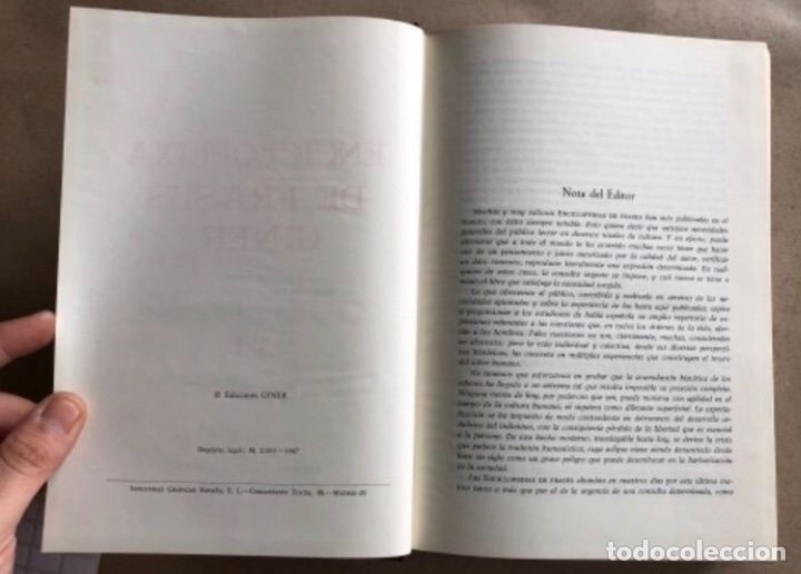 Enciclopedias de segunda mano: ENCICLOPEDIA DE FRASES GINER EN DOS TOMOS. EDICIONES GINER 1967. - Foto 5 - 208796511