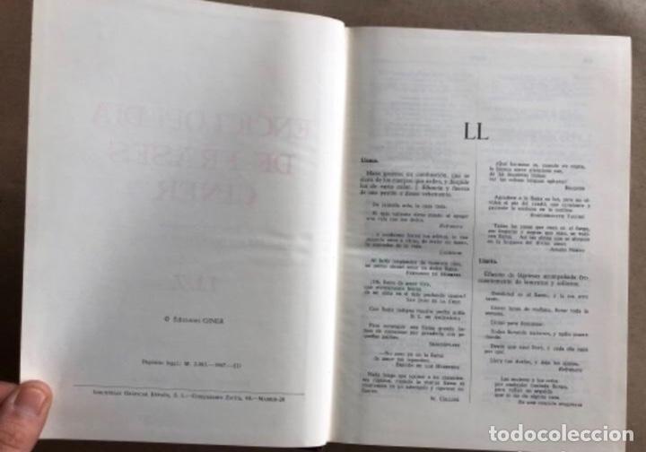 Enciclopedias de segunda mano: ENCICLOPEDIA DE FRASES GINER EN DOS TOMOS. EDICIONES GINER 1967. - Foto 12 - 208796511