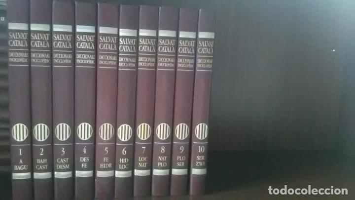 DICCIONARI ENCICLOPEDIC, SALVAT CATALA, 10 VOLUMS (Libros de Segunda Mano - Enciclopedias)